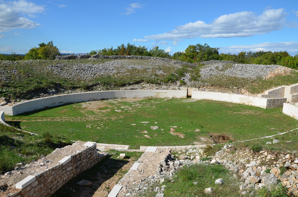 The military amphitheatre of Burnum legionary camp.