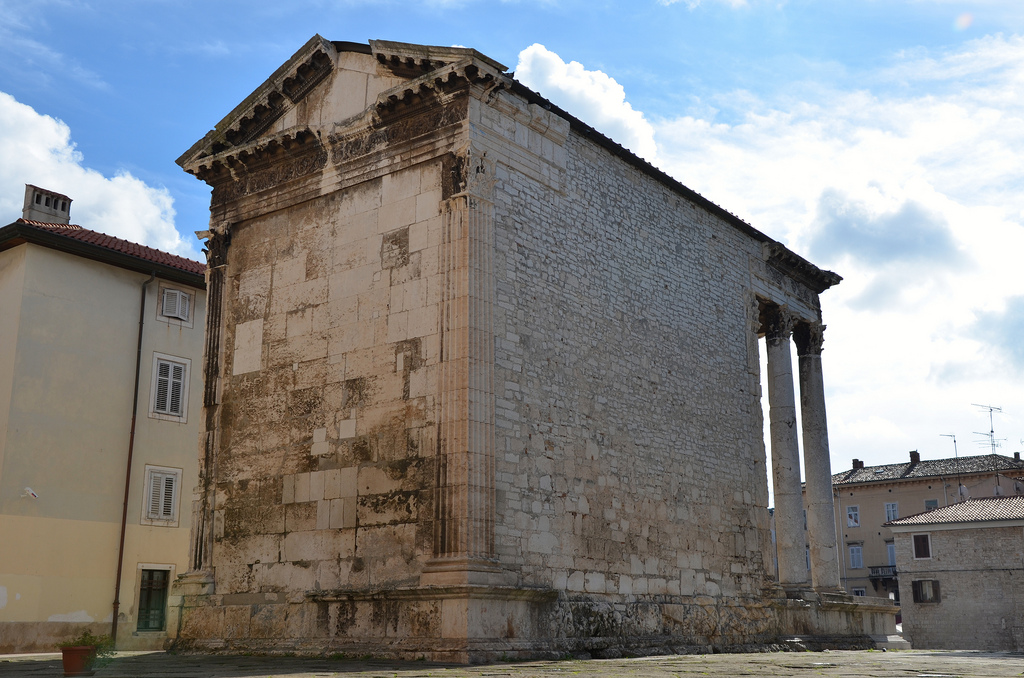 The back of the Temple of Augustus.