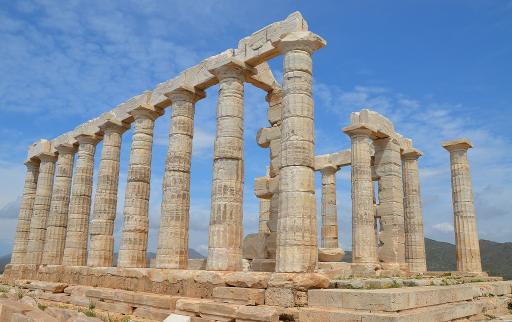 Temple of Poseidon, built around 444 – 440 BC, Cape Sounion