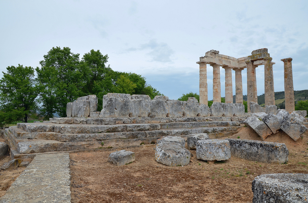 The Temple of Zeus, constructed during the last third of the 4th century BC (ca . 330 BC).