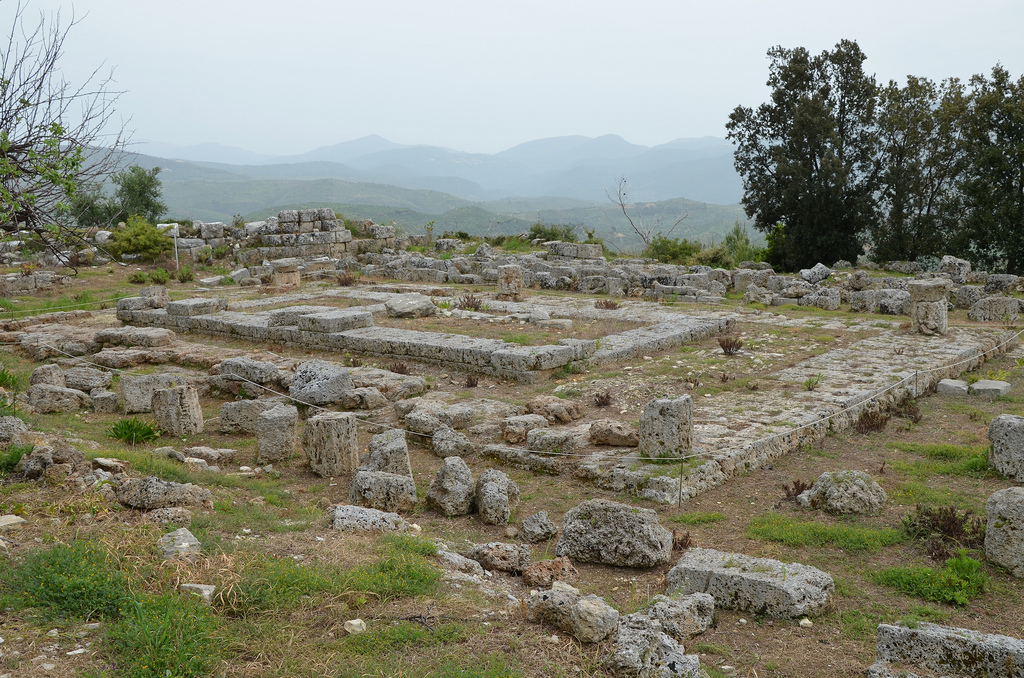 The peripteral Temple of Demeter, dated to the 1st half of the 4th century BC.