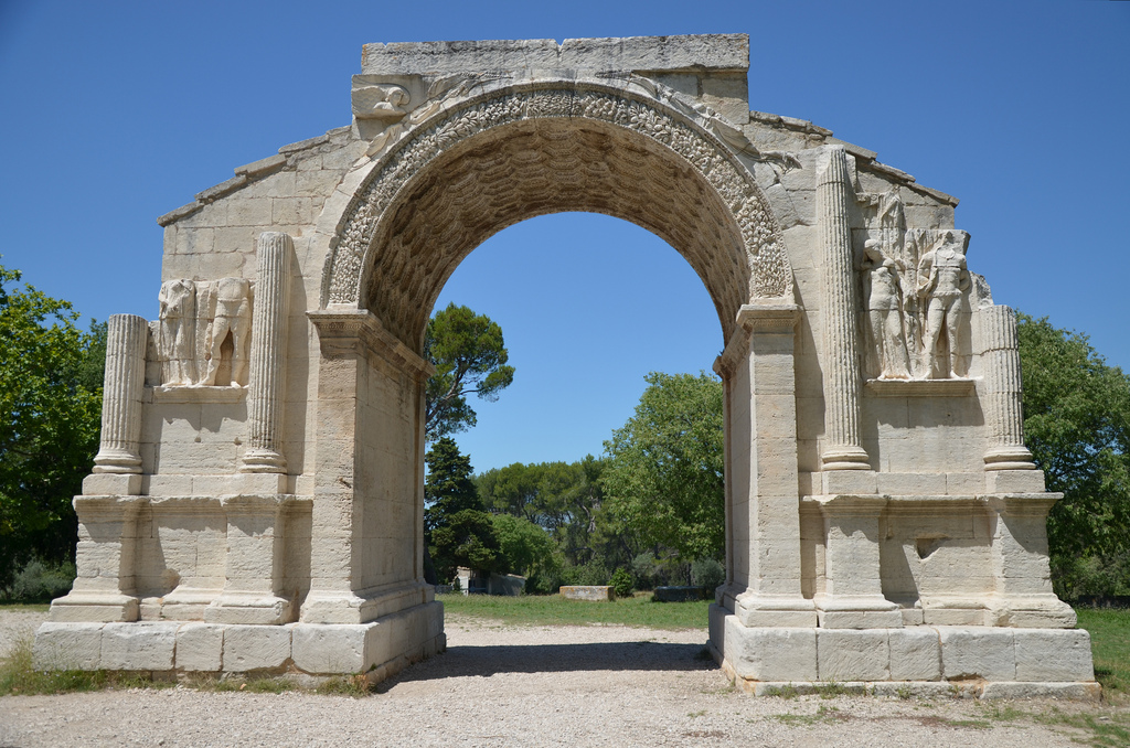 The Triumphal Arch of Glanum, built around 10-25 BC, Glanum