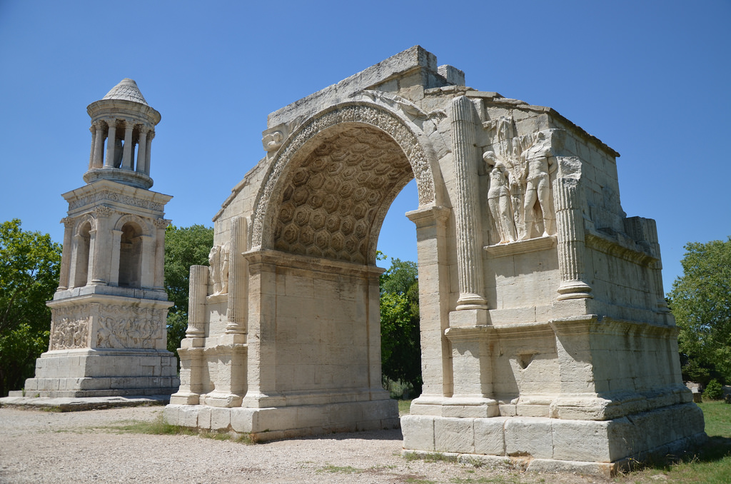 The Mausoleum of the Julii and Triumphal Arch.