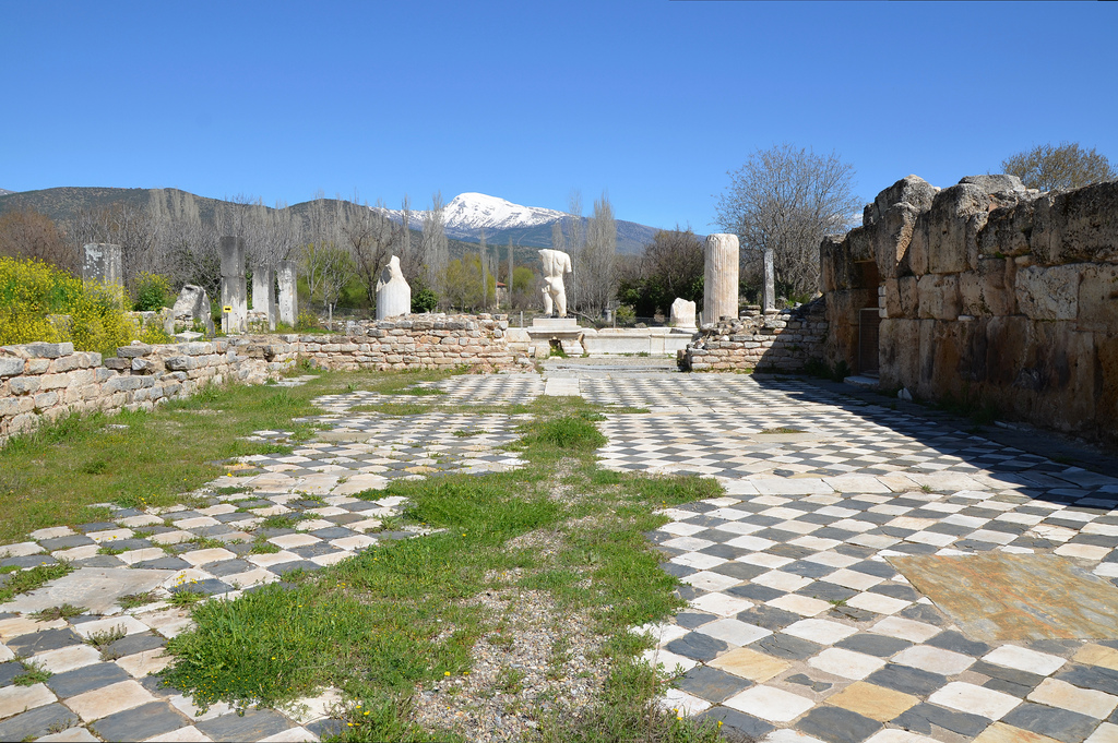The Hadrianic Baths, the largest public bath building in Aphrodisias built in the early 2nd century AD and dedicated to Hadrian, Aphrodisias, Turkey