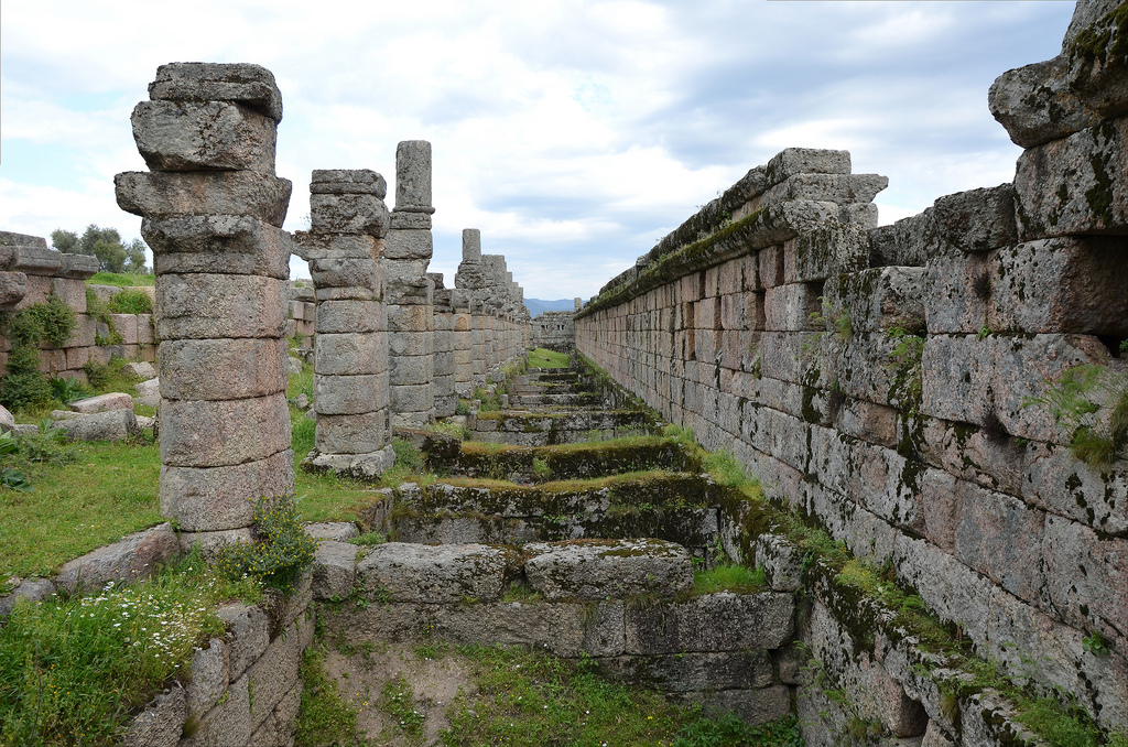 The Hellenistic three-storey Agora of Alinda, Caria, Turkey