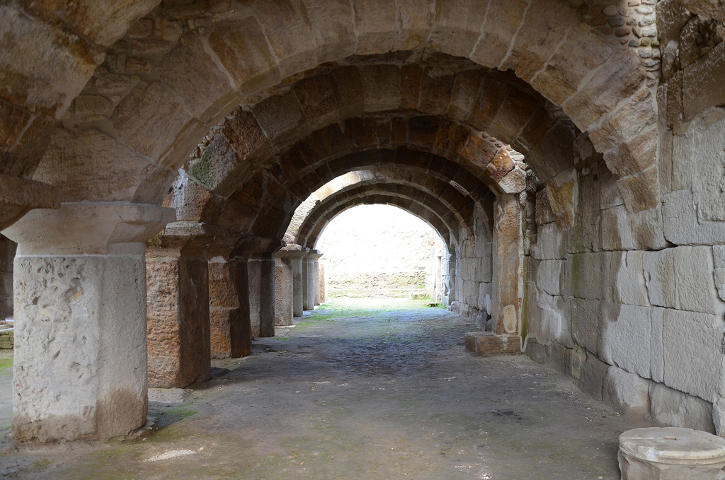 The Arched Building with cryptoporticus constructed in the late Hellenistic or early Roman period.
