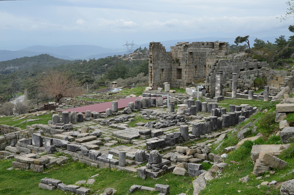 The Temple of Zeus, built in the 4th century BC, Labraunda, Caria, Turkey