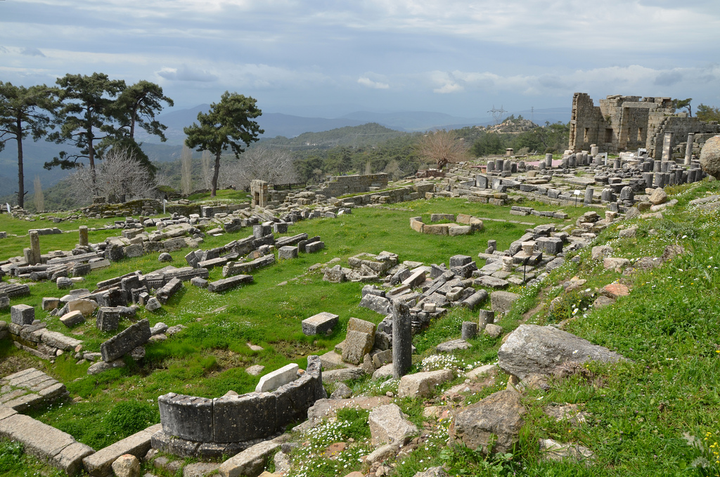 The Temple Terrace, view from north-east, Sanctuary of Zeus Labraundos, Labraunda, Caria, Turkey