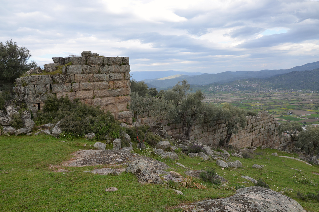 The Hellenistic city walls.