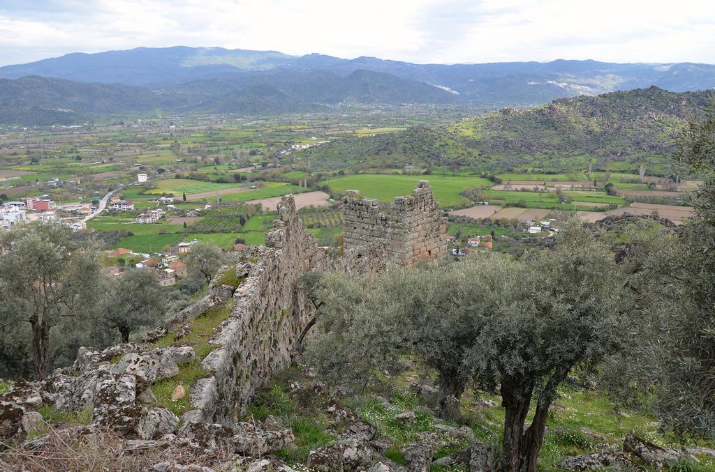 The Hellenistic city walls.