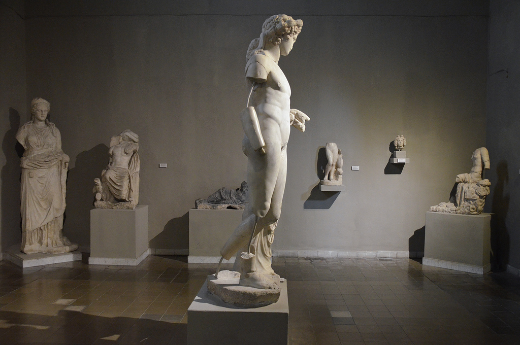 Sculptures from the Gymnasium of Salamis, 2nd century AD, Cyprus Museum, Nicosia, Cyprus