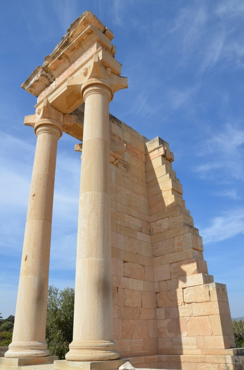 The Temple of Apollo Hylates was a small tetrastyle prostyle temple with a cella and vestibule in antis, and unfluted calcareous columns with capitals of the Nabatean style, known also as Cypro-Corinthian.