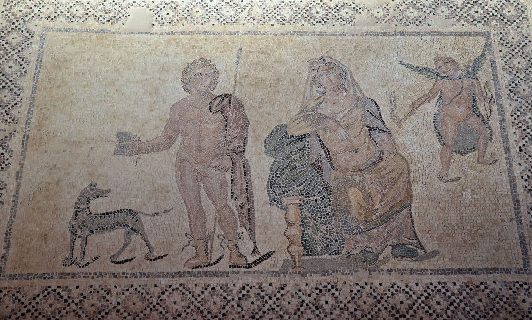 Phaedra and Hippolytus in the House of Dionysus, late 2nd / early 3rd century AD.