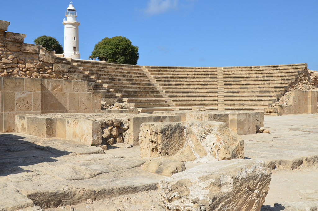 The Odeon located in the northeastern part of the ancient city, it was built in the 2nd century AD and could held approximately 1,200 spectators, Paphos.