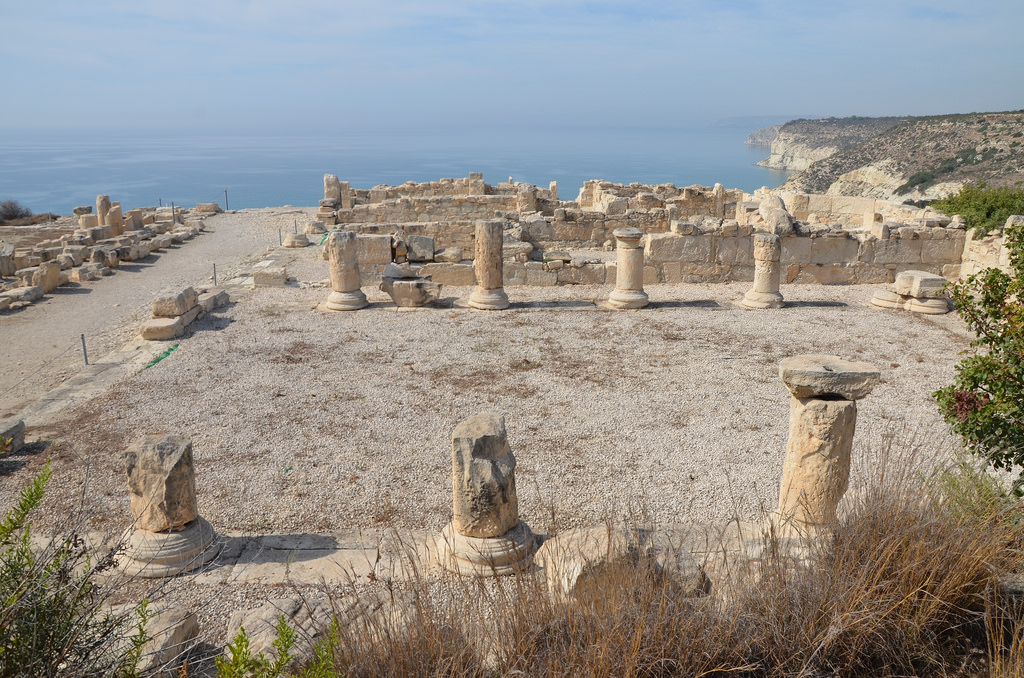 The Early Christian Basilica dating to the beginning of the 5th century AD, Kourion, Cyprus