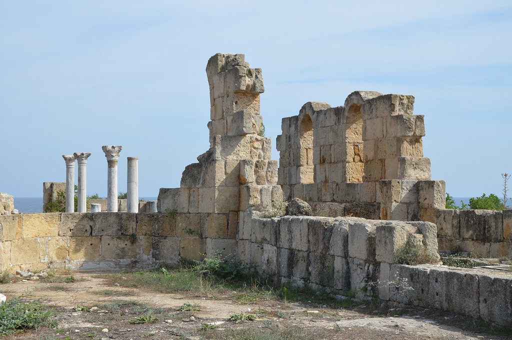 The Kambanopetra Basilica, built in the 4th centuy AD, Salamis, Northen Cyprus