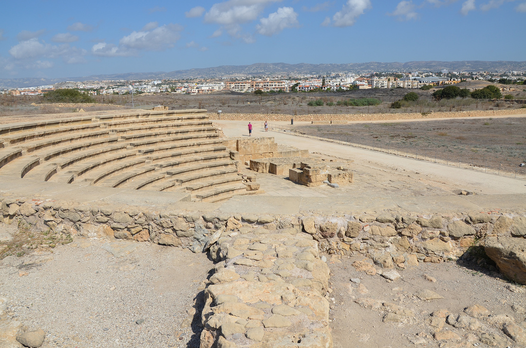 The Odeon located in the northeastern part of the ancient city.