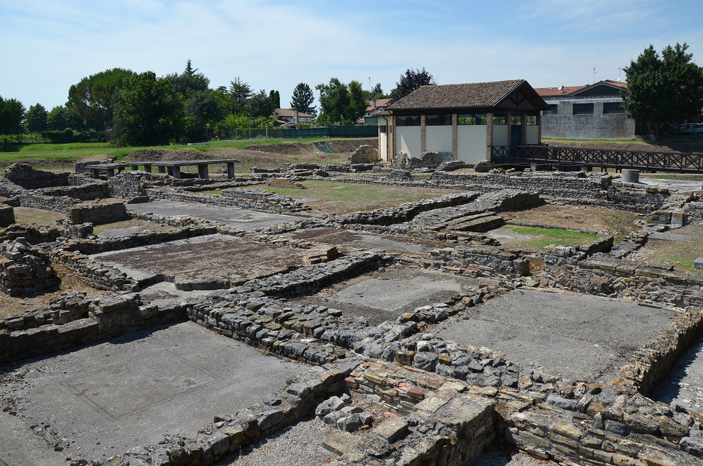 The archeological ruins of the Fondo Cal, one of Aquileia's residential district.