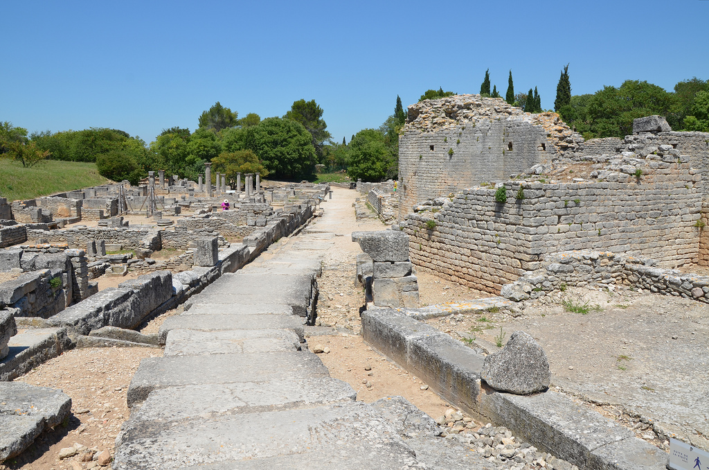 Overview of Glanum.