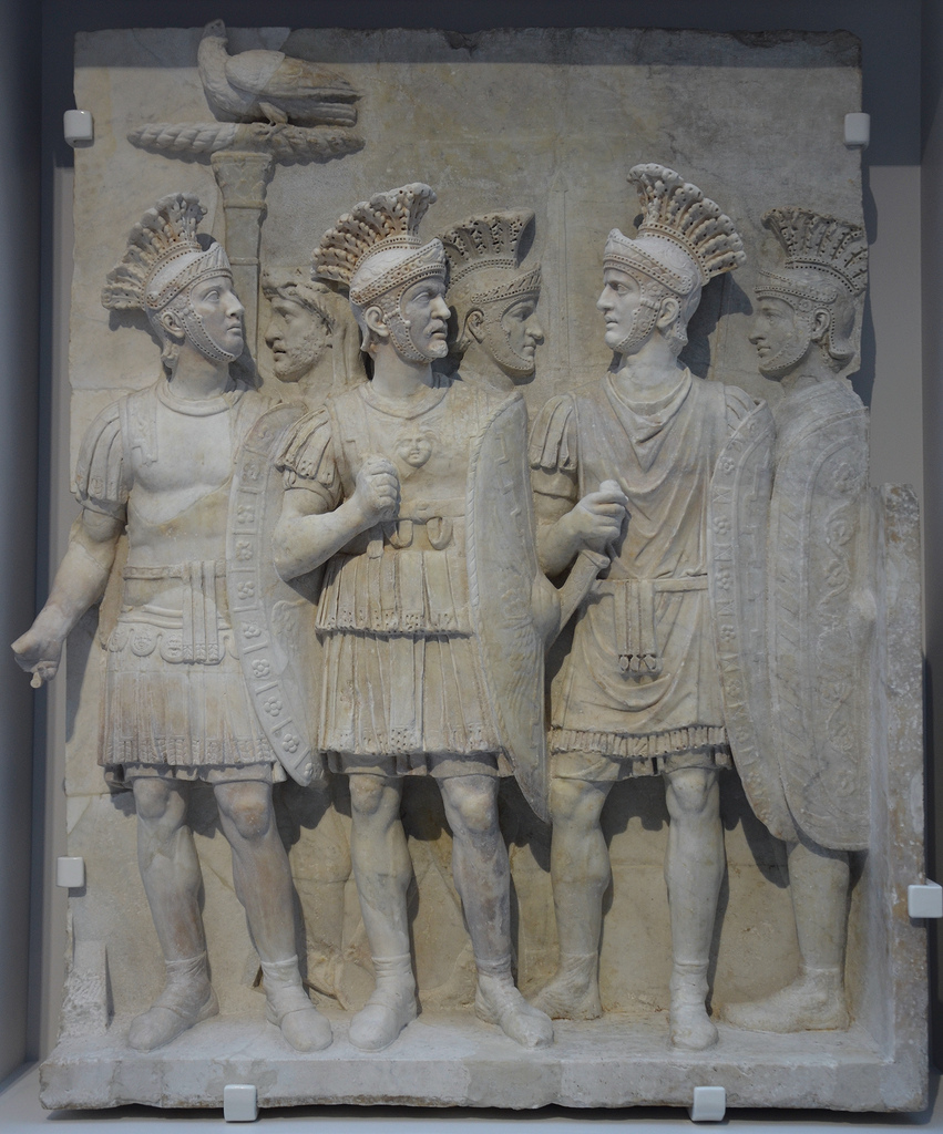 The Praetorians Relief from the Arch of Claudius, once part of the Arch of Claudius erected in 51 AD to commemorate the conquest of Britain.