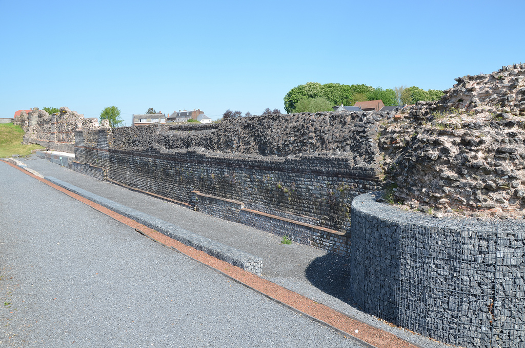 The remarkably well preserved defensive wall built in the 4th century AD.
