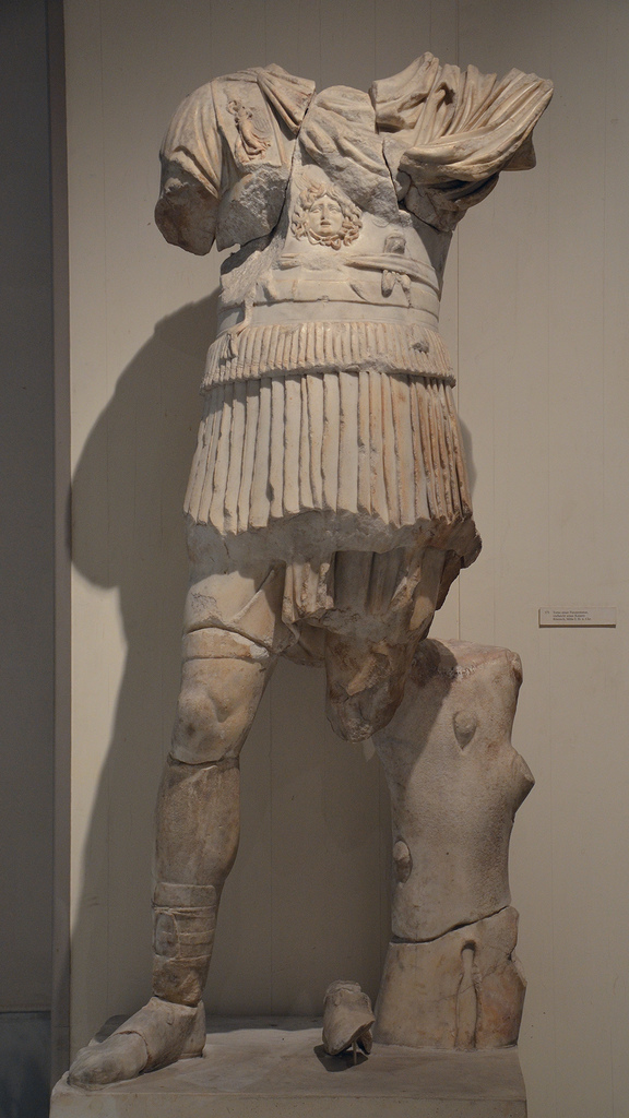 Statue of an emperor wearing the military cuirass, 2nd century AD.