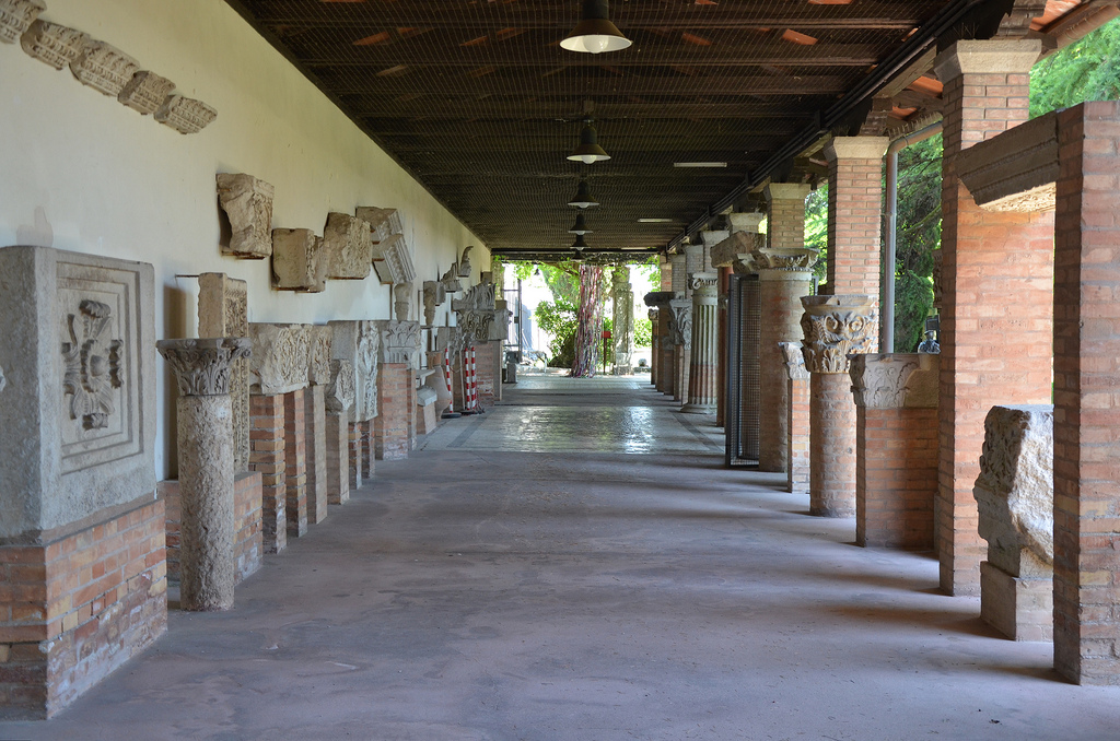The lapidarium of the Museo Archeologico Nazionale di Aquileia