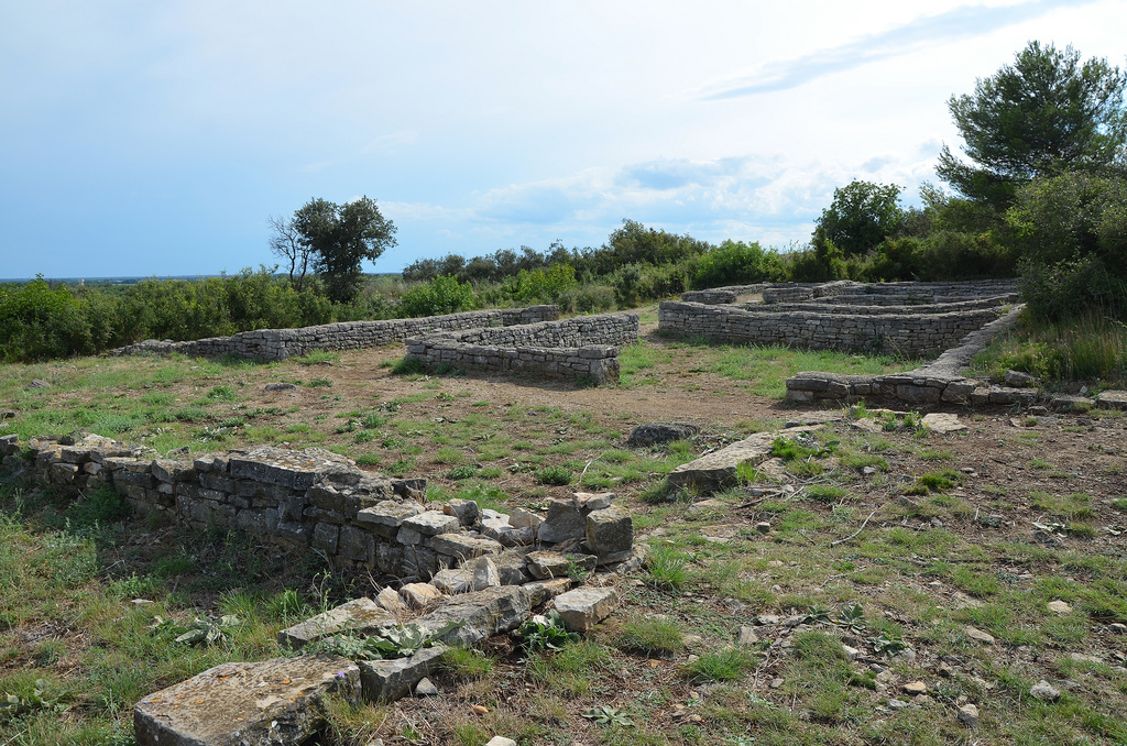 The terraced house in the northern district built in the Roman period.