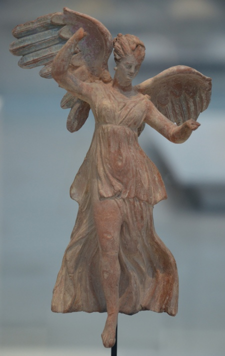 Terracotta statuette of Nike, the personification of victory, from Myrina (Turkey), around 190 BC.