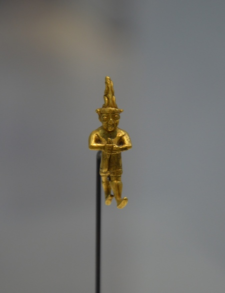 Gold amulet pendant, possibly depicting Teshub, the Hittite Storm God, around 1400-1200 BC, from Central Anatolia.
