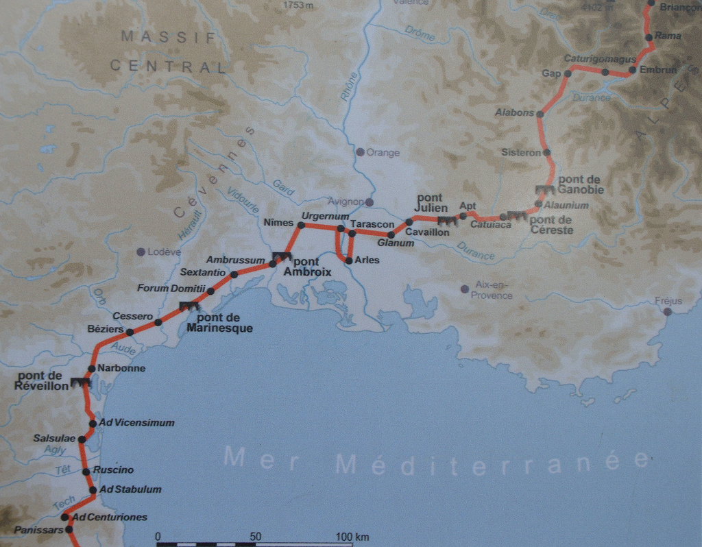 Route of the Via Domitia.