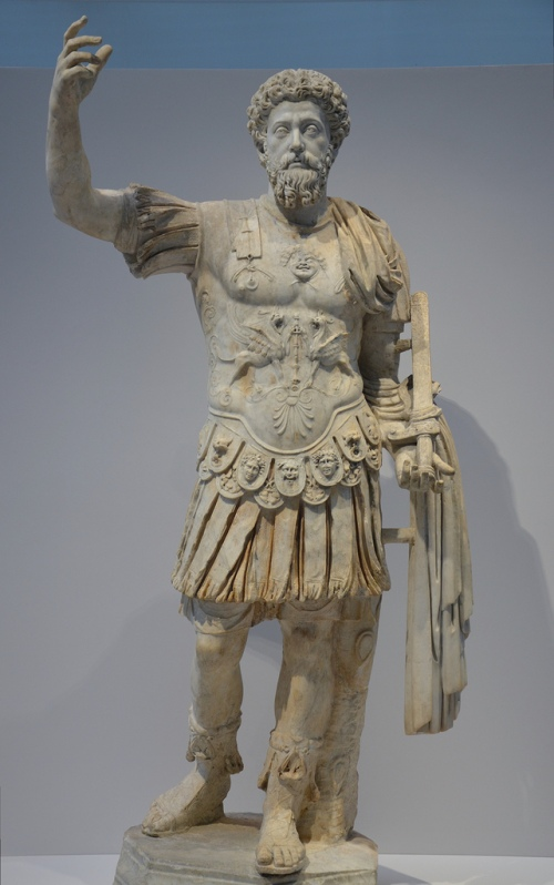 Cuirassed statue of Marcus Aurelius, from Gabies (?), end of the 2nd century AD.