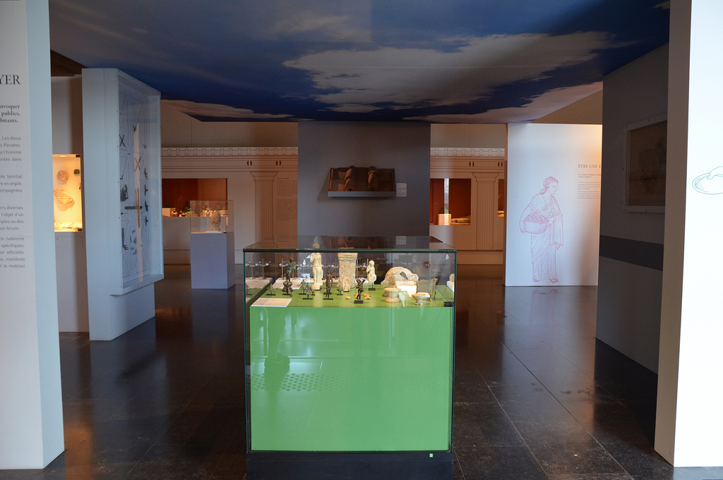 The second exhibition space presents the private life of the inhabitants of Bagacum.