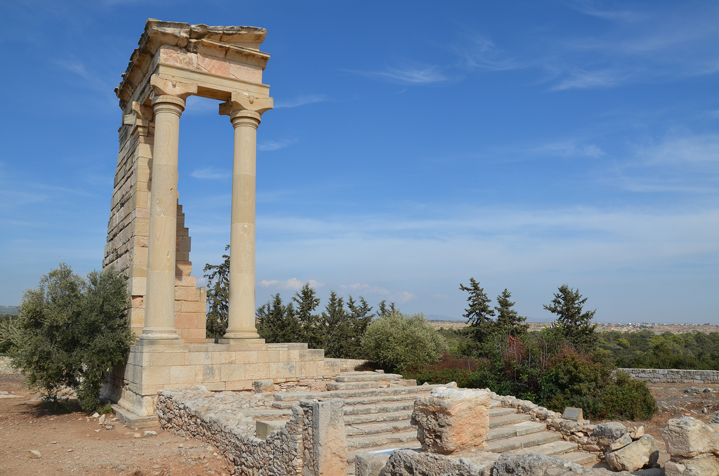 The Temple of Apollo Hylates built on a stepped platform in the early reign of Trajan.