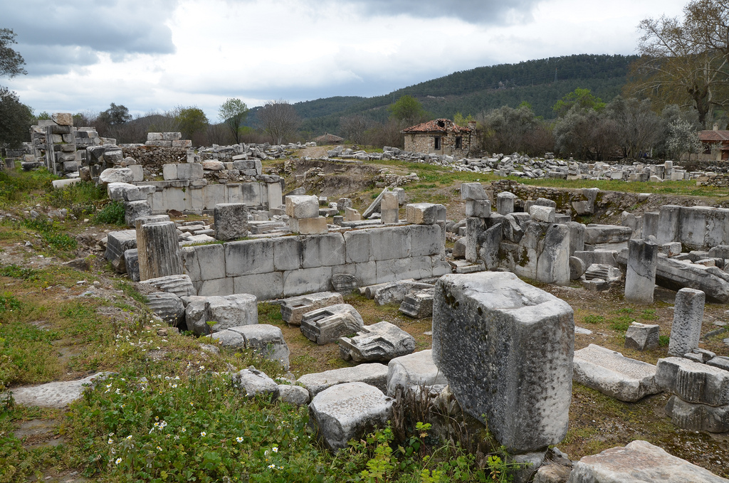 The Gymnasium was built in the second quarter of the 2ndcentury BC to the west end of the city in a small distance from the fortification wall.
