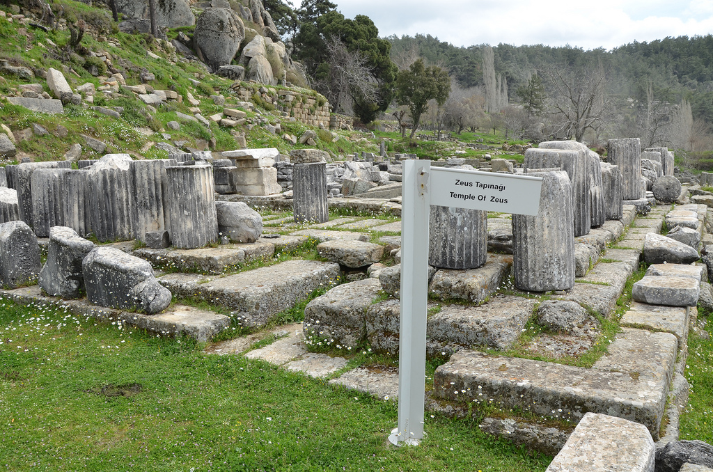 The ruins of the Temple of Zeus built in the 4th century BC.
