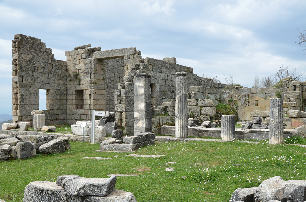 The second banqueting hall (the so-called Andron A), presumably built by Idrieus (351-344 BC).