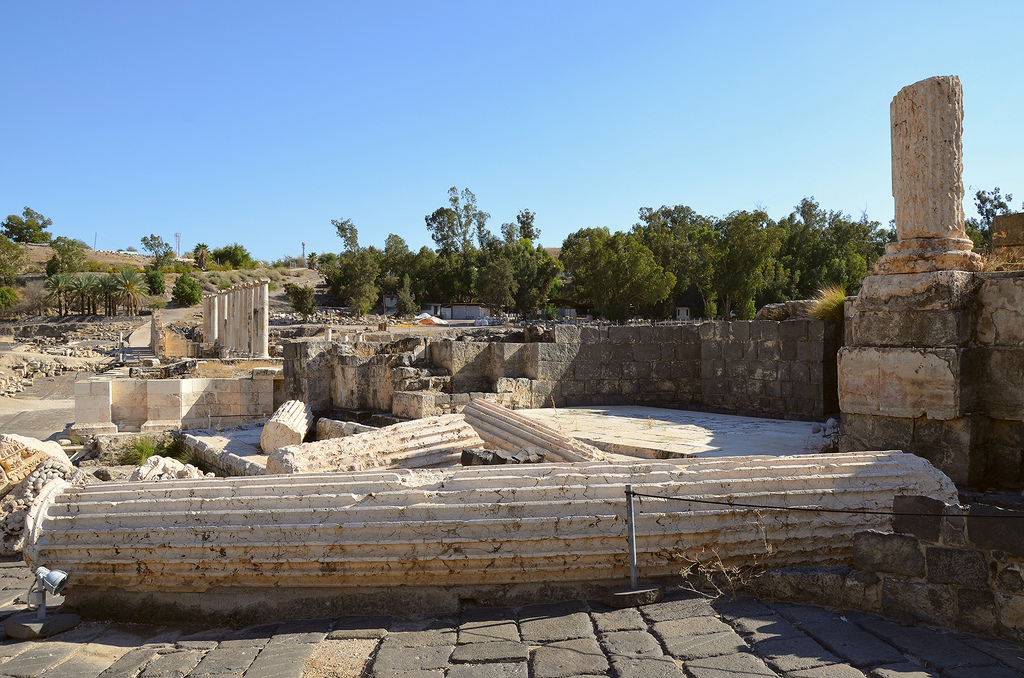 The ruins of the Roman Nymphaeum originally built in the 2nd century AD.