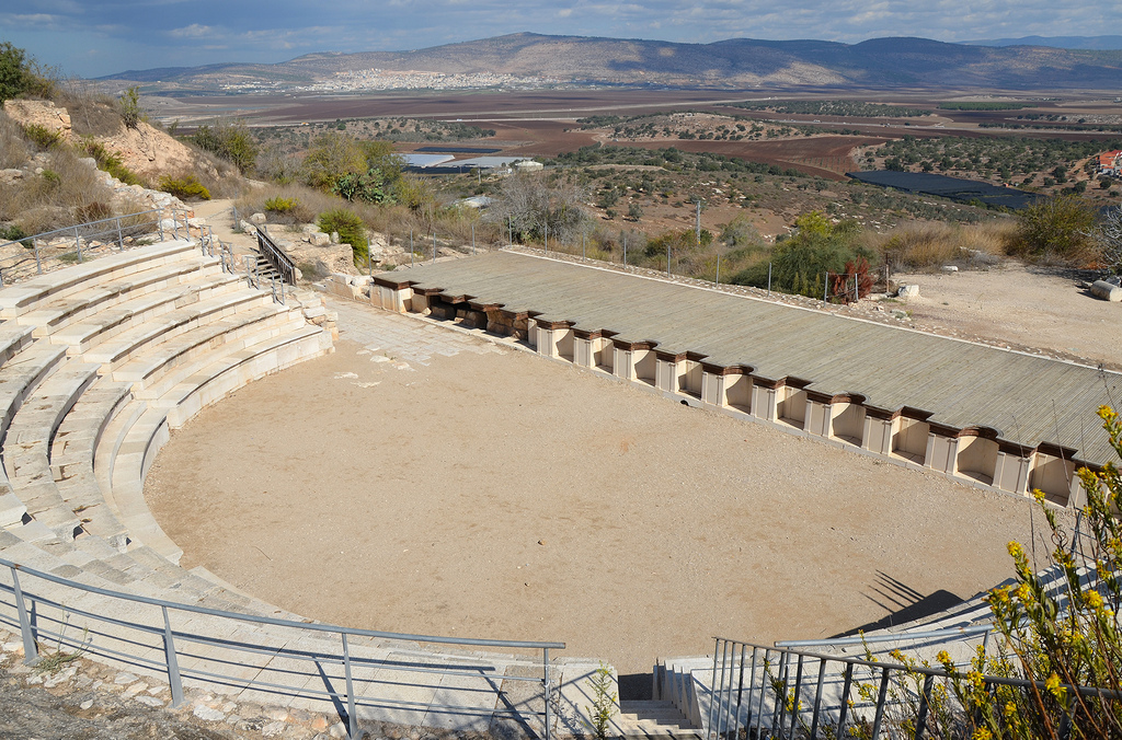 The stage building of the Roman Theatre and the stage itself are almost completely destroyed, yet its foundations remain.