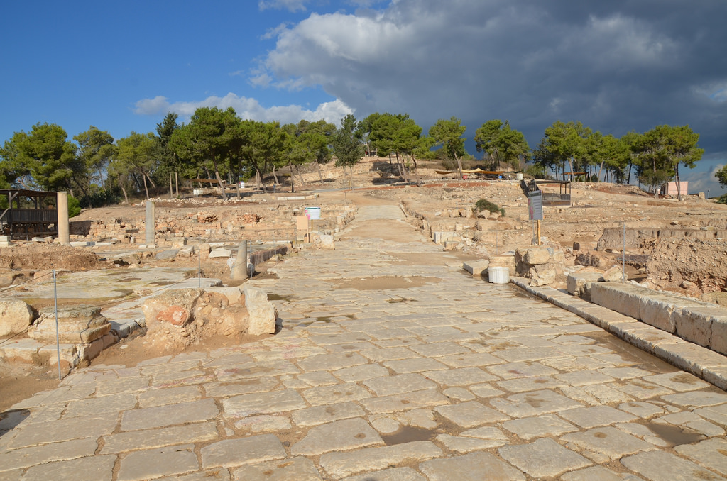 View of the Decumanus which functioned as the main artery by which one entered the city from the east.