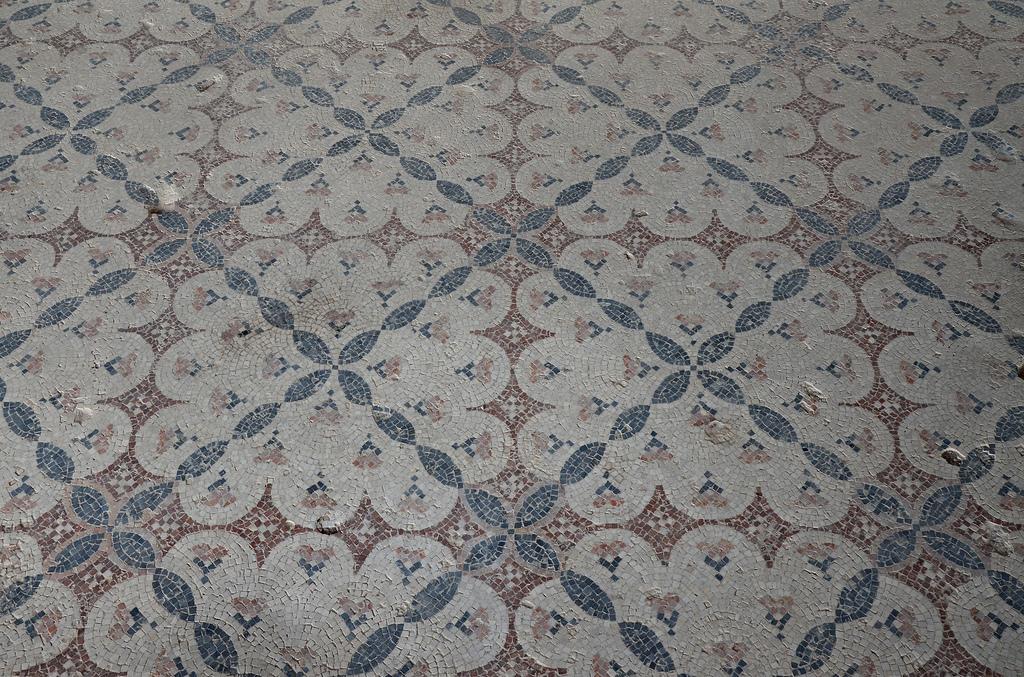 Geometric mosaic in the Nile Festival House.