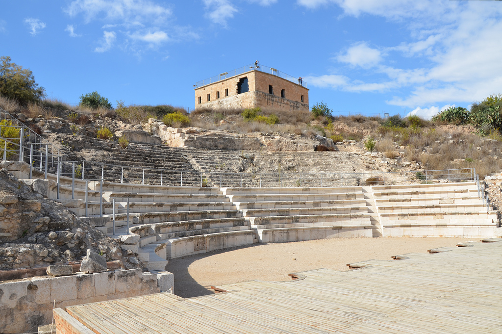 The Roman Theatre built on the northen slope of the hill in the early 2nd century AD, it could seat 4,500 spectators.