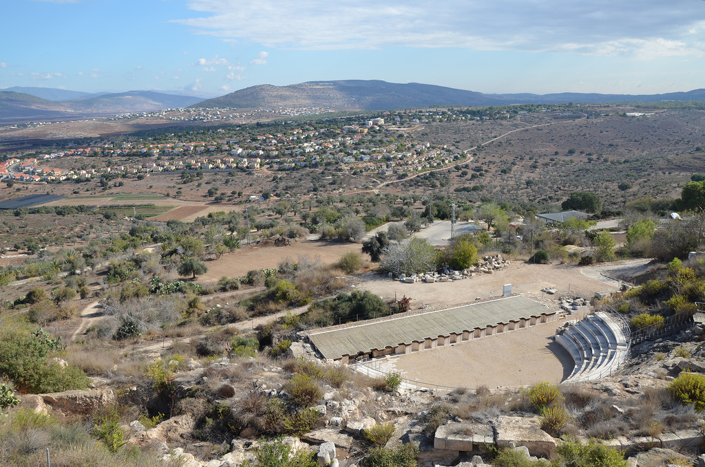 View over the Theatre built on the northen slope of the hill in the early 2nd century AD.