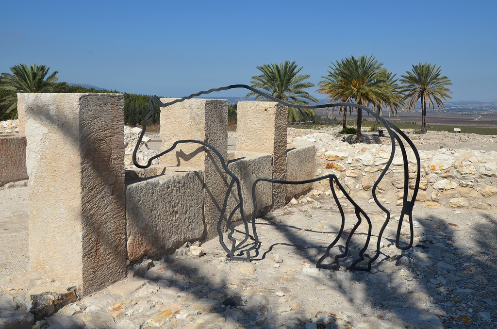 The southern stables, they had five units and could accommodate 150 horses, 9th or 8th century BC.