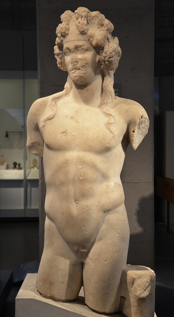 Statue of Dionysus, from Beit Sh'ean/Scythopolis, 2nd century AD, Israel Museum.