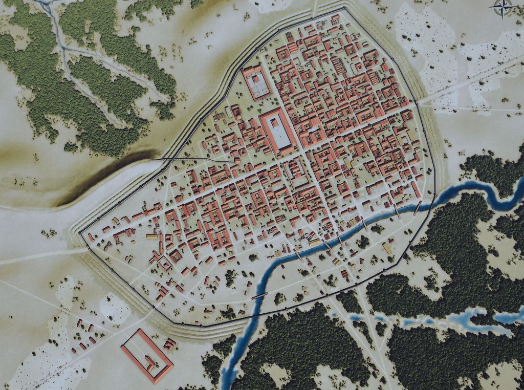 Reconstruction of Atuatuca Tungrorum around 150 AD (by Ugo Janssens).