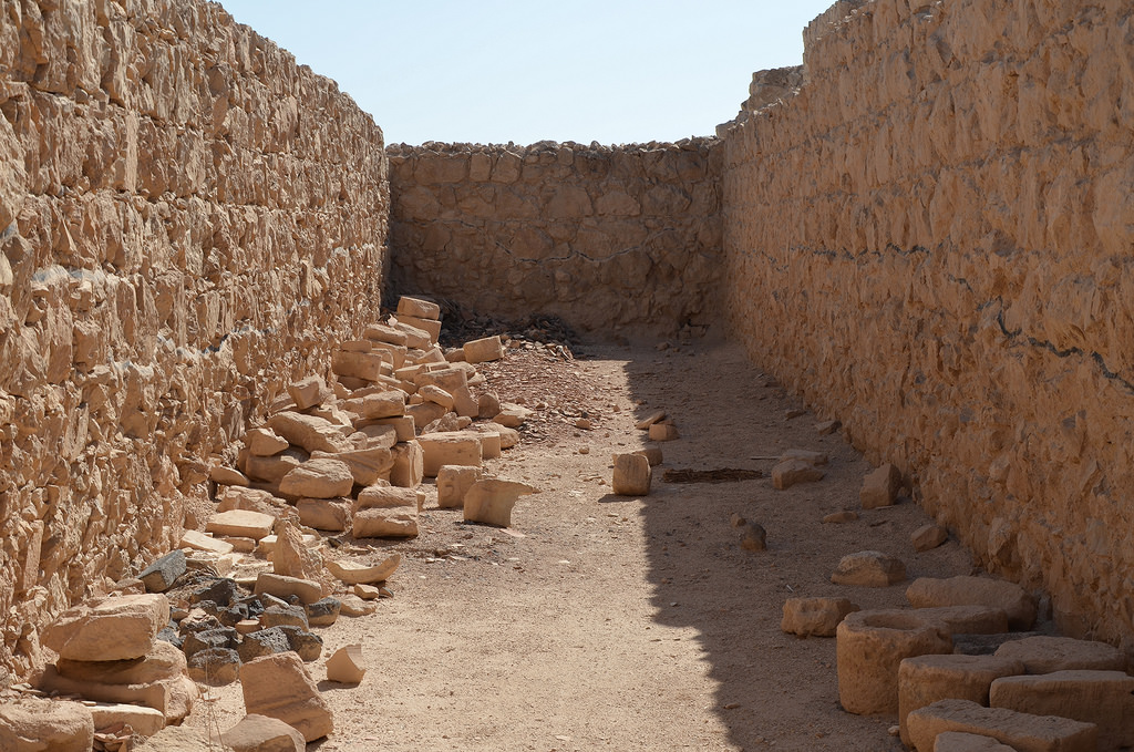 The storeroom complex. Each storeroom was used to hold a different commodity. This included essentials like olive oil, grains, nuts and seeds.