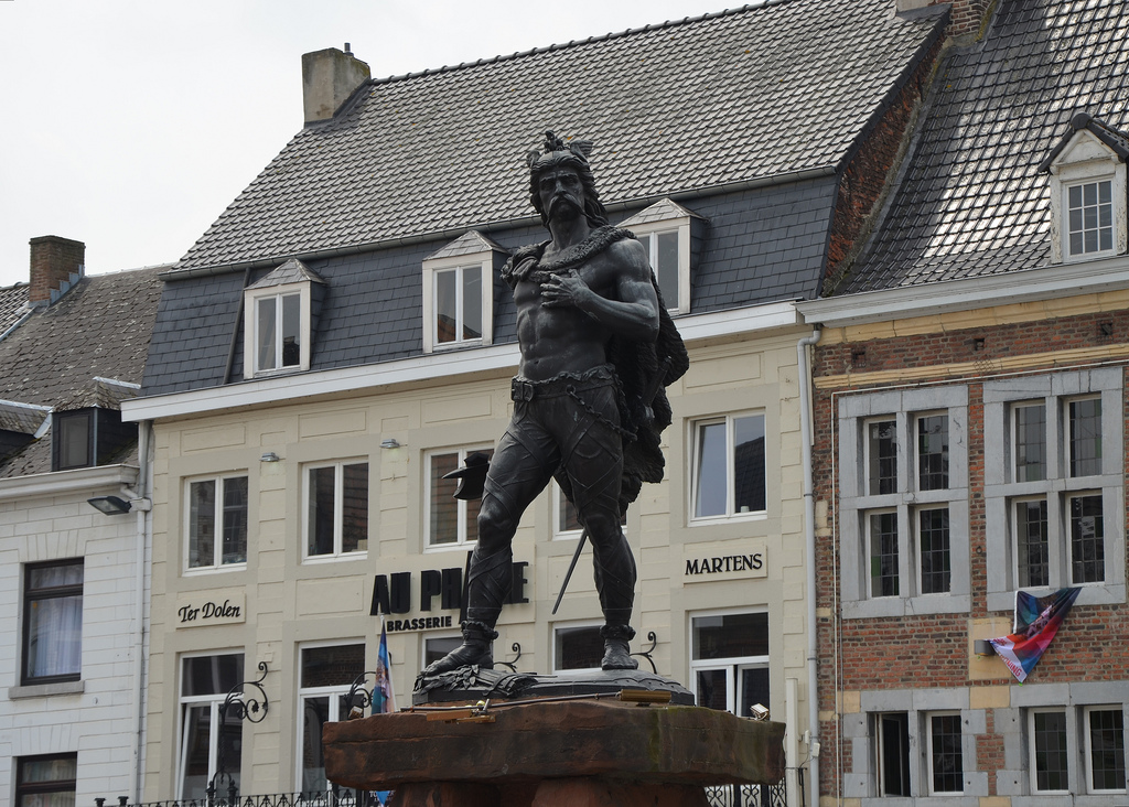 Statue of Ambiorix erected in 1866 in Tongeren.
