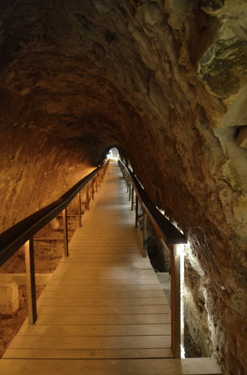 The Water System built in the 10th century BC, it was 80m tunnel which led to the spring under the bedrock.