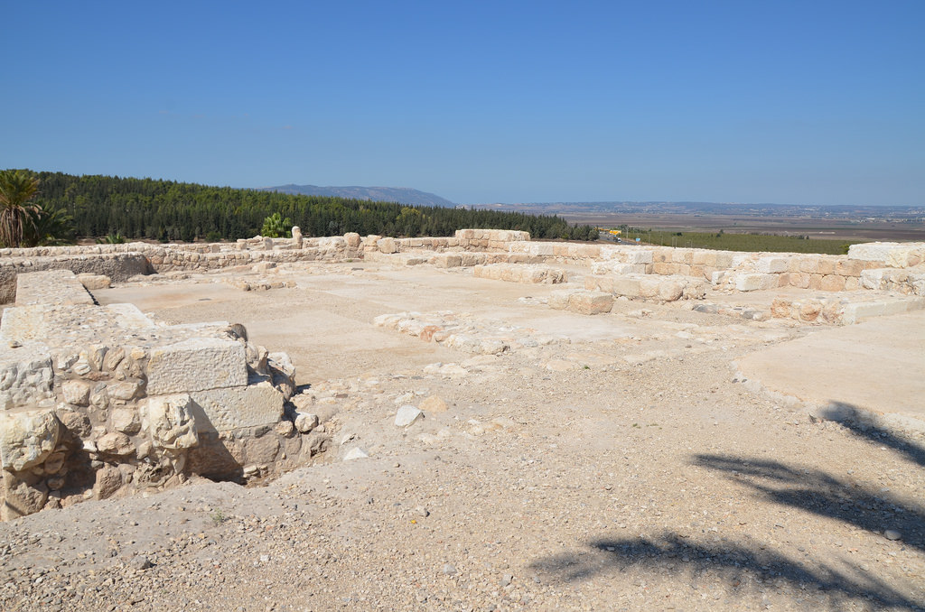 "The north Stables and Palace dating from the 8/9th century BC Israelite period, it belongs to the ""Chariot city"" of King Solomon."